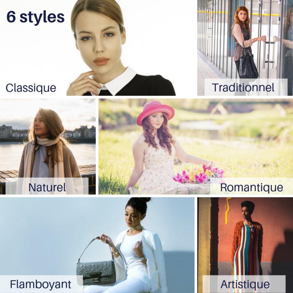 6 styles vestimentaires